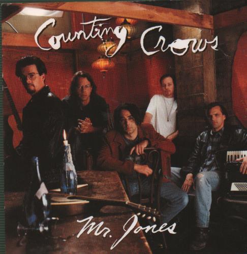 "Counting Crows Mr Jones 7"" vinyl single (7 inch record) UK CNT07MR164348"