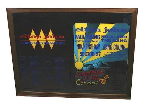 Elton John European Express Tour Commemorative Mirror memorabilia UK JOHMMEU436866