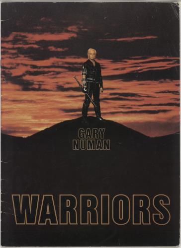 Gary Numan Warriors 1983 + Ticket Stubs tour programme UK NUMTRWA749342