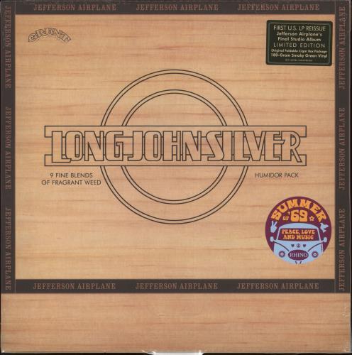 Jefferson Airplane Long John Silver - 180gm Smoky Green Vinyl - Sealed vinyl LP album (LP record) US JEFLPLO726990