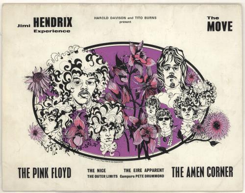Jimi Hendrix The Jimi Hendrix Show tour programme UK HENTRTH350107