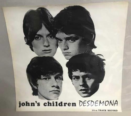 John's Children Desdemona - Promotional Poster poster UK JHCPODE751284