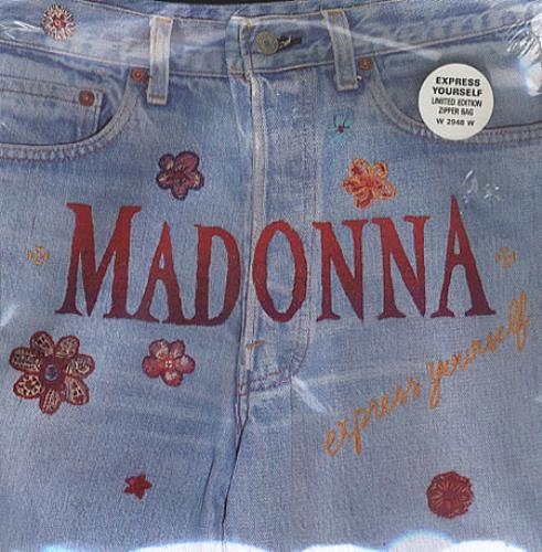 "Madonna Express Yourself - Zipper Sleeve & Still Sealed 7"" vinyl single (7 inch record) UK MAD07EX339879"