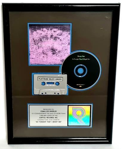 Mazzy Star So Tonight That I Might See award disc US MZZAWSO452281