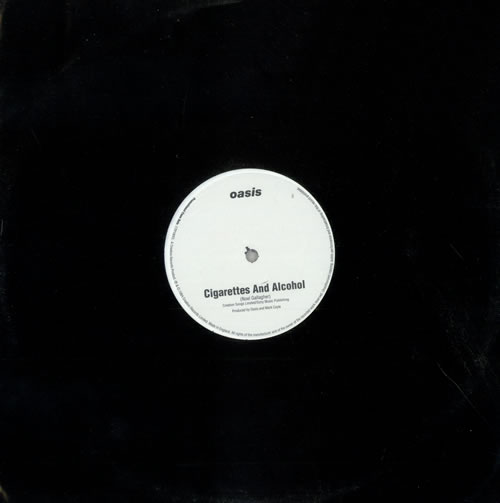 "Oasis (UK) Cigarettes And Alcohol - 1 track 12"" vinyl single (12 inch record / Maxi-single) UK OAS12CI261195"