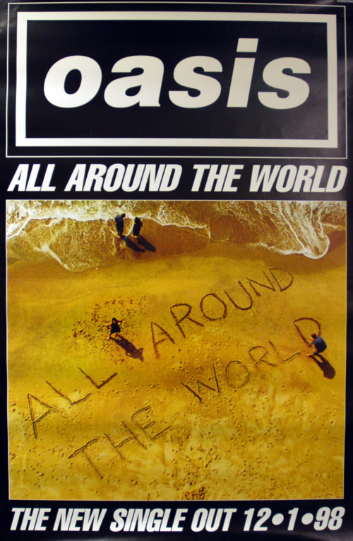Oasis All Around The World poster UK OASPOAL611234