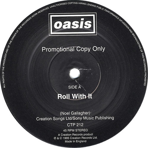 """Oasis Roll With It 12"""" vinyl single (12 inch record / Maxi-single) UK OAS12RO60831"""