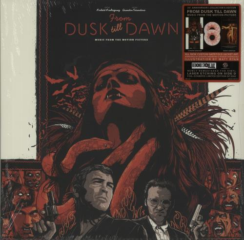 Original Soundtrack From Dusk Till Dawn - Red Splattered Vinyl + Sealed 2-LP vinyl record set (Double Album) US OST2LFR654401
