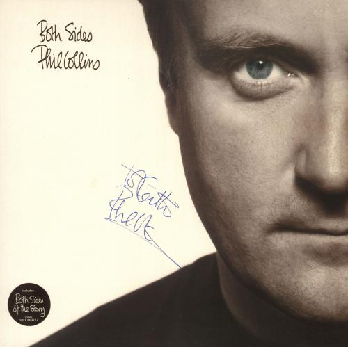 Phil Collins Both Sides - Autographed 2-LP vinyl record set (Double Album) UK COL2LBO730216