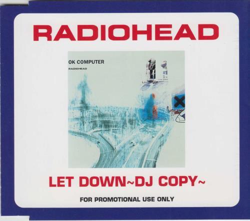 "Radiohead Let Down - DJ Copy CD single (CD5 / 5"") Japanese R-HC5LE163442"