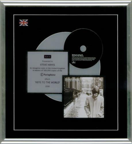 Richard Ashcroft Keys To The World award disc UK CFTAWKE534622