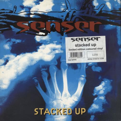 Senser Stacked Up - Yellow Vinyl 2-LP vinyl record set (Double Album) UK SNR2LST734796