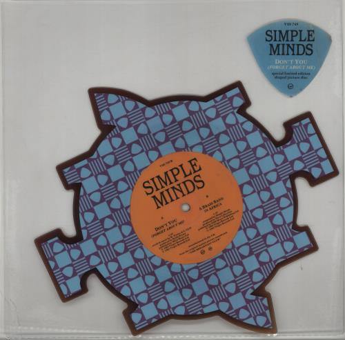 Simple Minds Don't You Forget About Me - Tea-stained shaped picture disc (picture disc vinyl record) UK SIMSHDO428084
