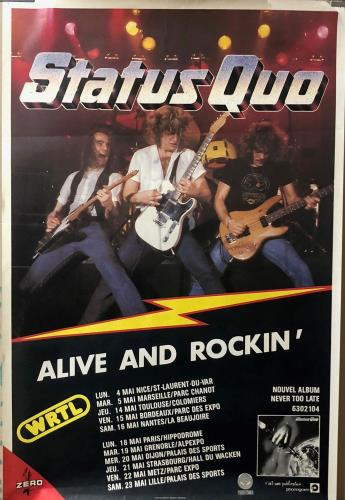 Status Quo Alive And Rockin' poster French QUOPOAL726275