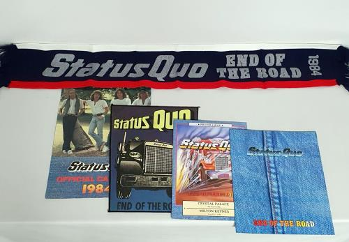 Status Quo End Of The Road + Letter, Merchandise Insert & Stamps/stickers tour programme UK QUOTREN743588