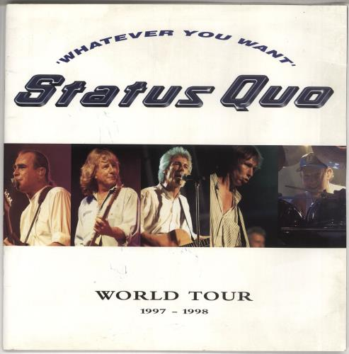 Status Quo Whatever You Want World Tour 1997-1998 tour programme UK QUOTRWH725749