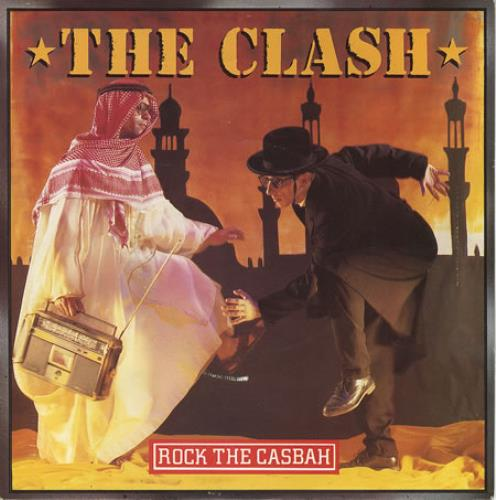 "The Clash Rock The Casbah + Stickers 7"" vinyl single (7 inch record) UK CSH07RO109732"