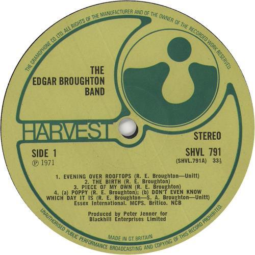 The Edgar Broughton Band Edgar Broughton Band - 1st vinyl LP album (LP record) UK EDBLPED745745