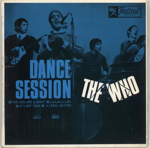 "The Who Dance Session EP 7"" vinyl single (7 inch record) Australian WHO07DA711802"