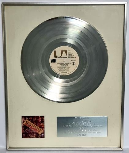 War War Live - RIAA Double Platinum Award award disc US W-RAWWA491566