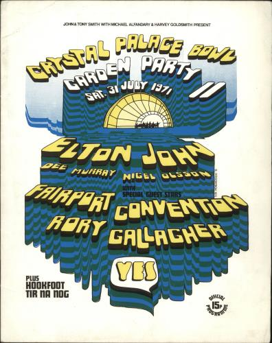 Yes Crystal Palace Bowl Garden Party II + Ticket Stub tour programme UK YESTRCR747997