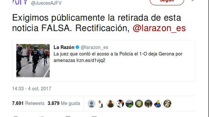 Captura de una noticia del diario La Razón