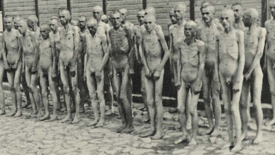 Esta es la foto censurada por Facebook. Prisioneros soviéticos en el campo de concentración de Mauthausen HOLOCAUST EDUCATION & ARCHIVE RESEARCH TEAM