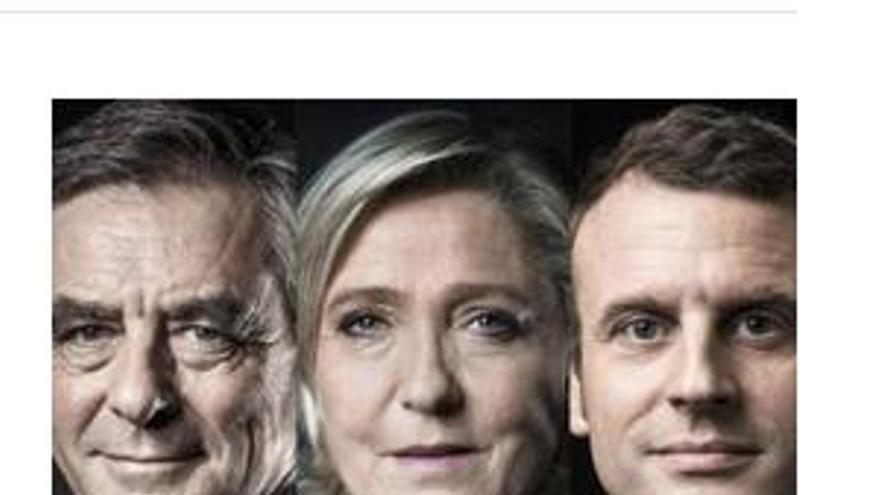 Fotografía publicada en El País para ilustrar el resultado de la primera vuelta de las elecciones francesas.