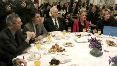 Gallardón, Ignacio González, Echeverría, Cifuentes y Aguirre en una imagen de archivo.