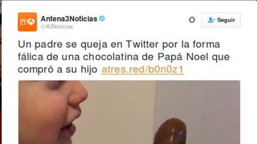 Información publicada en la sección 'Esto no es noticia' de la web de Antena 3.