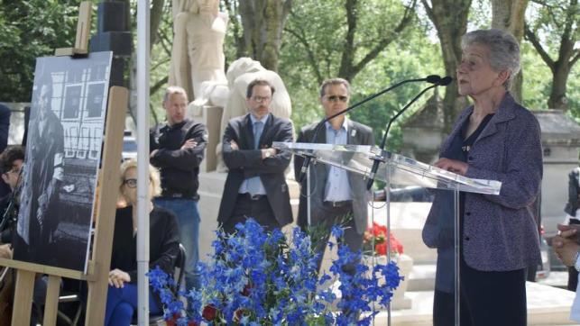 Pierrette Sáez, una de las artífices del homenaje celebrado en París / C. Hernández