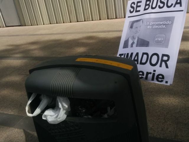 Uno de los carteles que se han visto en las Marchas de la Dignidad