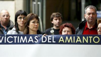 Una protesta ciudadana contra el uso del amianto.