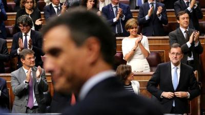 Pedro Sánchez y Mariano Rajoy, en la constitución del Congreso, el 19 de julio de 2016.
