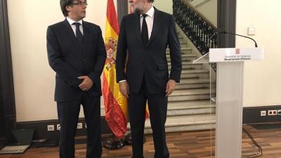 Puigdemont sugirió comparecer tras la reunión de coordinación junto a Rajoy, que se mostró de acuerdo
