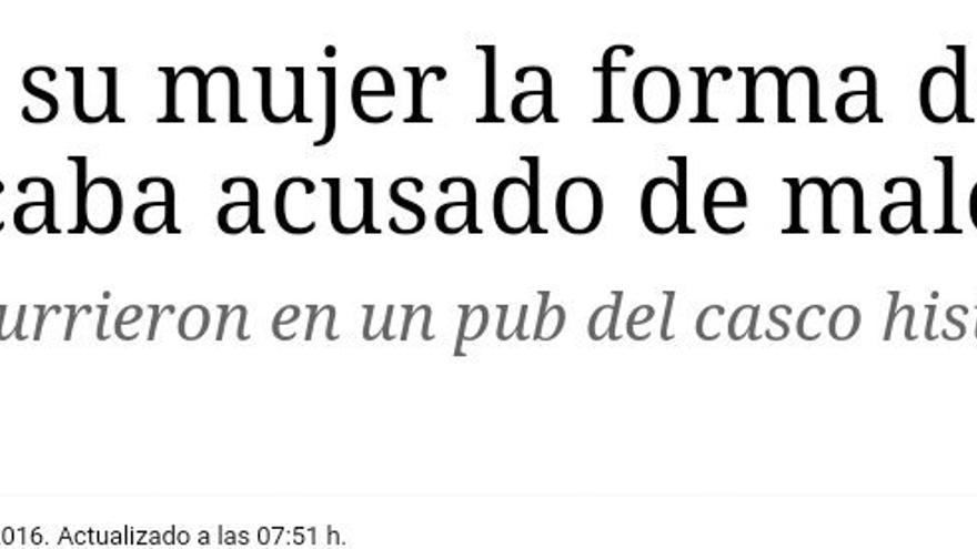 """""""El diario rectificó el titular diez horas más tarde""""."""
