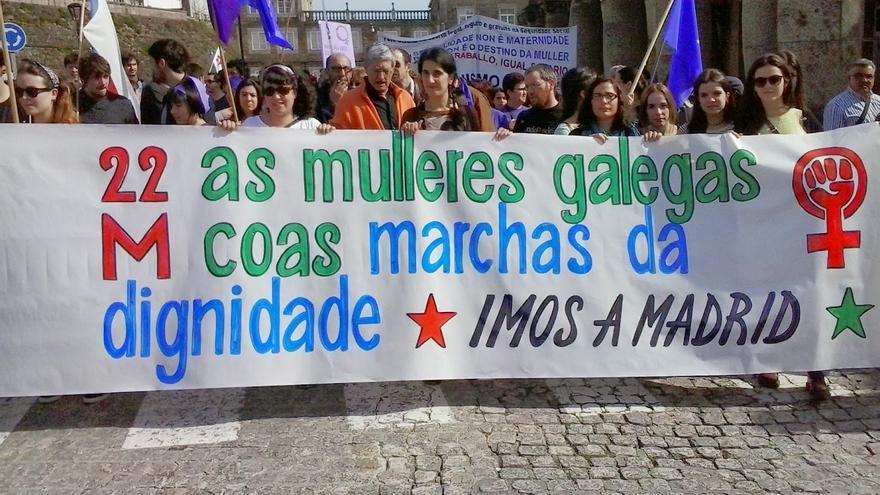 Manifestación de apoyo a la Marcha de la Dignidad en Galicia