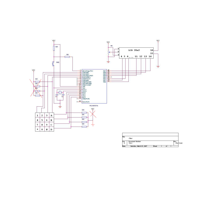 Keypad 4x4 Amp Lcd Probs