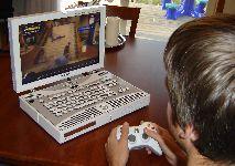 Jugando a Xbox portable