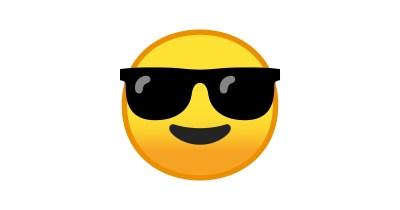 😎 lächelndes Gesicht mit Sonnenbrille-Emoji