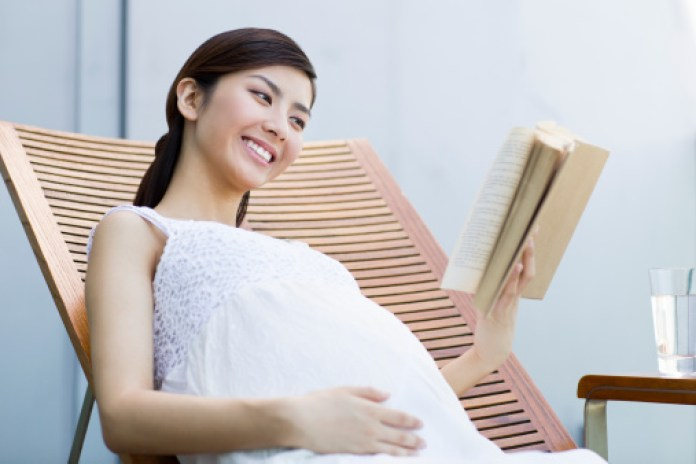 Image result for pregnant read book