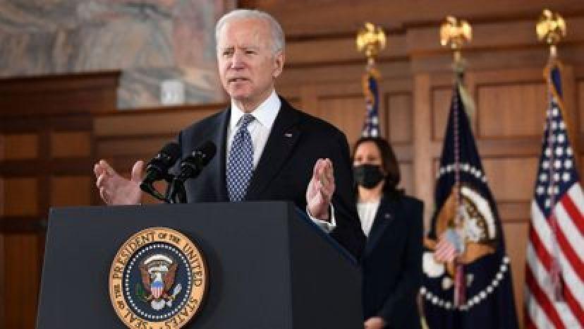 El presidente estadounidense Joe Biden durante una conferencia de prensa.