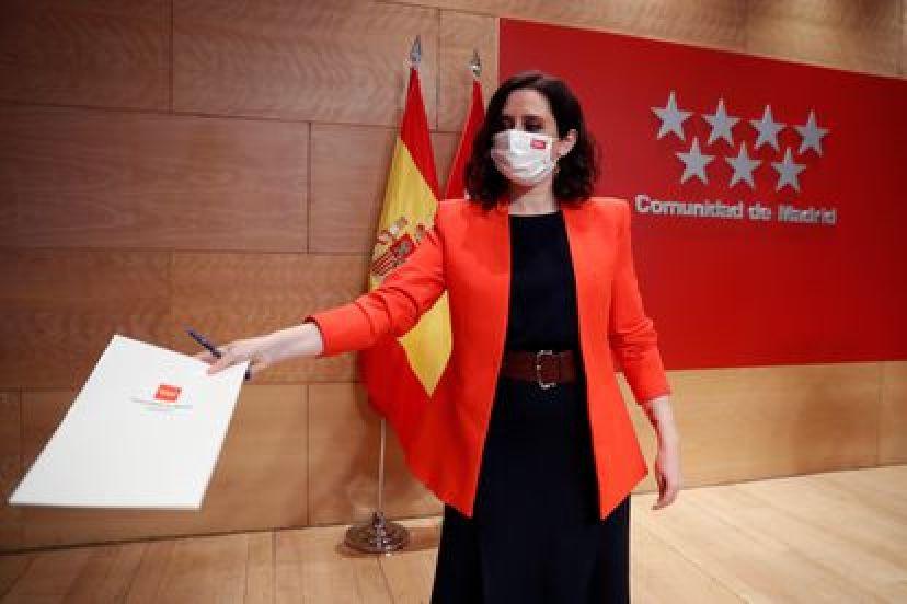 Estreno regional de Madrid Isabel Díaz Ayuso del conservador Partido Popular.