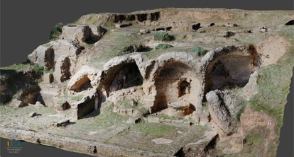 A 3D model of the Roman site of Arva, in today's Alcolea del Río (Seville), made by the UCA's Geodetection Unit.