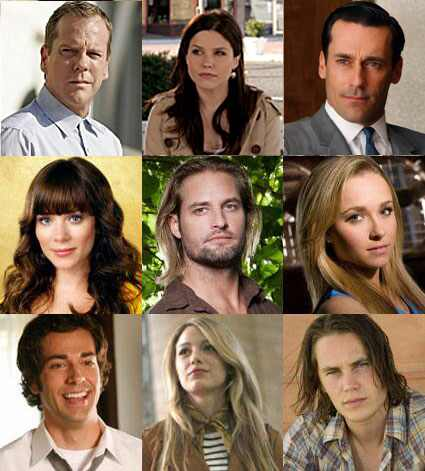 Kiefer Sutherland (24), Sophia Bush (One Tree Hill), Jon Hamm (Mad Men), Anna Friel (Pushing Daisies), Josh Holloway (Lost), Hayden Panettiere (Heroes), Zachary Levi (Chuck), Blake Lively (Gossip Girl), Taylor Kitsch (Friday Night Lights)