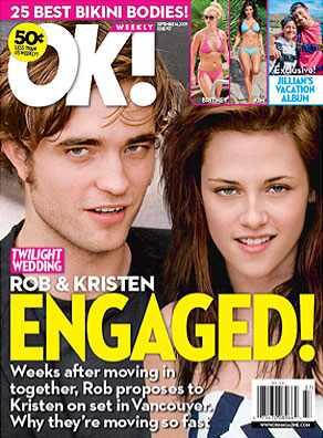 Robert Pattinson, Kristen Stewart, Ok Magazine