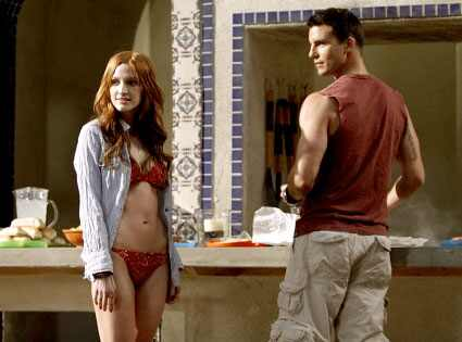 Ashlee Simpson, Colin Egglesfield, Melrose Place