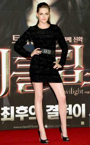 The Lady Is a Vamp  Dayum! A shimmering Prabal Gurung belted dress, shiny legs, sleek mullet (yeah, even that's working) and confident pose at the Eclipse premiere in Seoul—Kristen Stewart looks fab enough to sink your teeth into. Now let's see if she'll actually keep it up for the rest of the tour.
