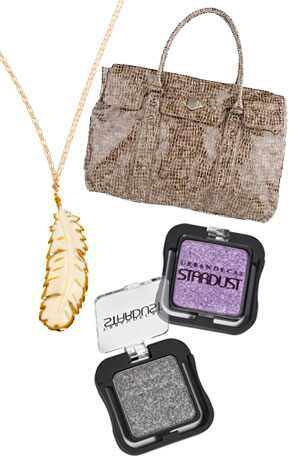 Tiger Lily Necklace, Rachel Zoe Tote, Urban Decay Stardust