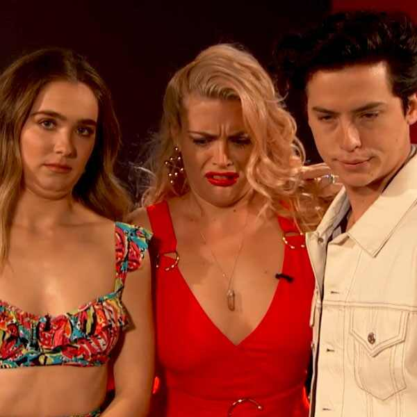 Haley Lu Richardson, Cole Sprouse, Busy Philipps, Busy Tonight,